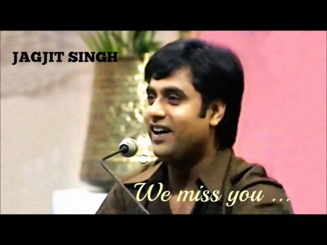 RANJISH HI SAHI  Live   JAGJIT SINGH sings MEHDI HASSAN
