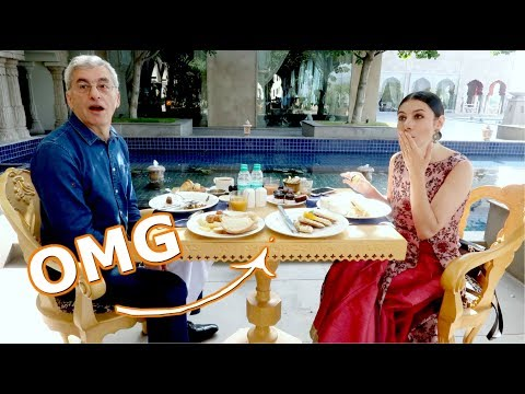INCREDIBLE INDIAN FOOD & WESTERN FOOD BUFFET BREAKFAST AT THE FAIRMONT JAIPUR | TRAVEL VLOG IV