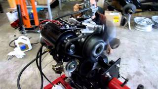 Premier démarrage Renault 4 moteur 782cc