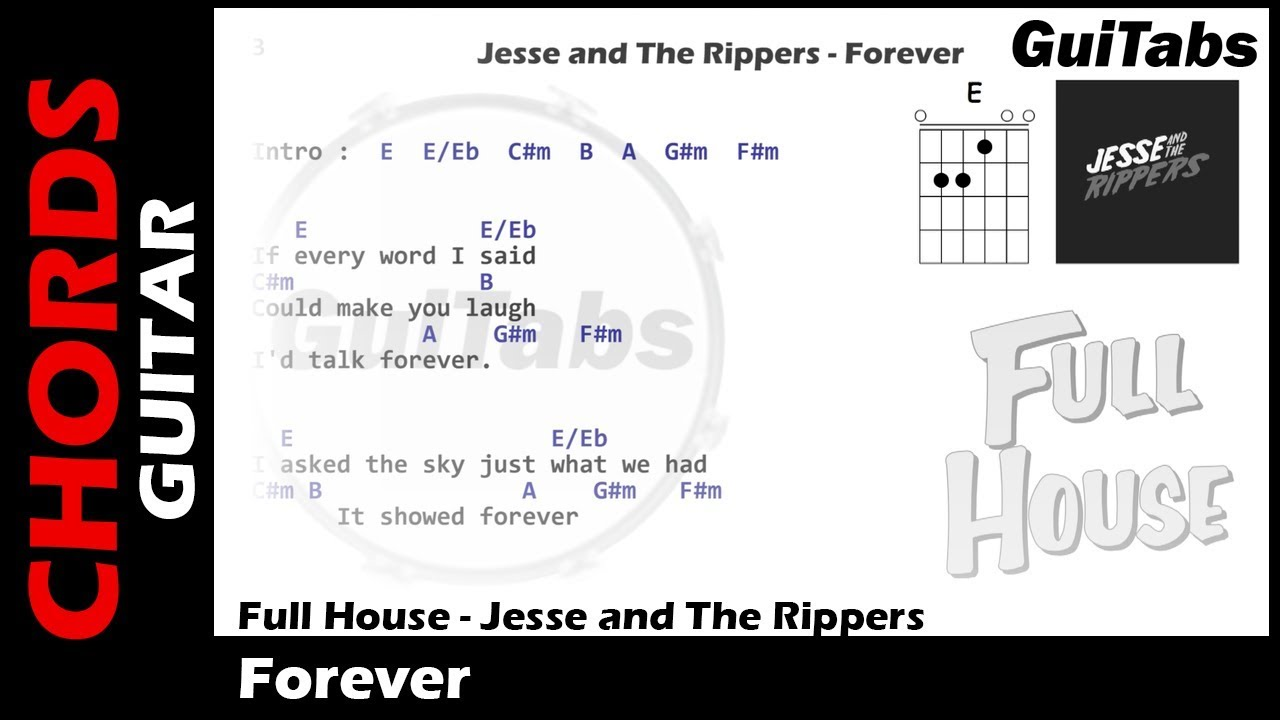 Full House Forever Lyrics And Guitar Chords Youtube