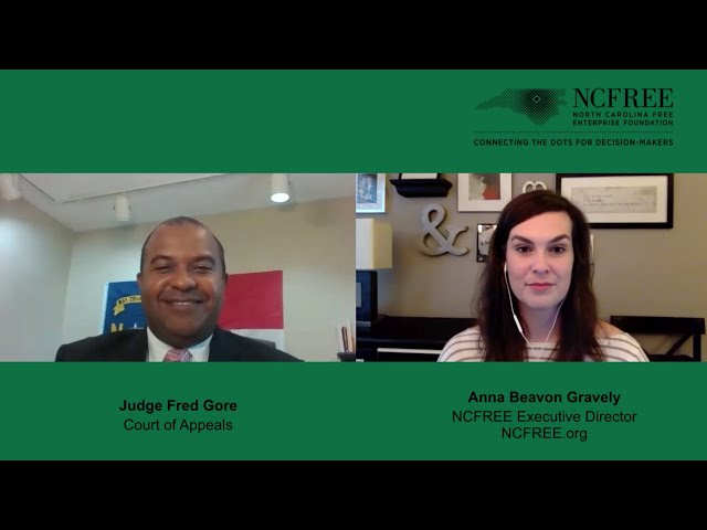 NCFREE Judicial Interview - Judge Fred Gore - Court of Appeals Seat 5