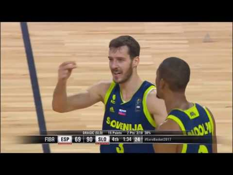Goran Dragić, Anthony Randolph, K. Prepelič & G. Vidmar Full Highlights vs Spain|Eurobasket2017 1/2F