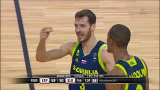 Goran Dragić, Anthony Randolph, K. Prepelič & G. Vidmar Full Highlights vs Spain|Eurobasket2017 1/2F thumbnail