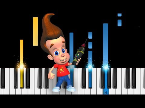 Jimmy Neutron Theme Song - EASY Piano Tutorial