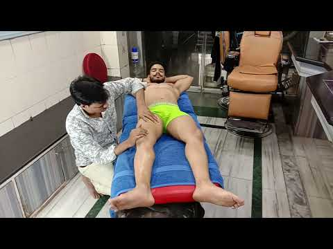 ASMR intense deep Tissue body & foot massage by Indian masseur Shamsed  With Firoz (Ep-8)