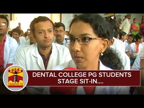 Government Dental College PG Students Stage Sit-in Demanding to Release Outstanding Stipend