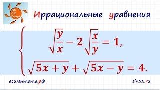 Система иррациональных уравнений #3