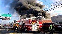 MASSIVE FIRE GUTS COMMERCIAL STRUCTURE IN EAST FARMINGDALE NY