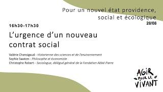 L'urgence d'un nouveau contrat social
