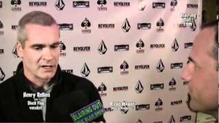 ex Black Flag vocalist Henry Rollins talks W Eric Blair @ the Lemmy movie premiere