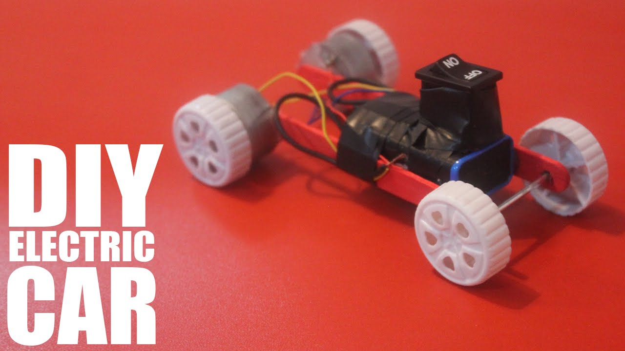How to make a battery powered toy car - DIY Electric Car - YouTube