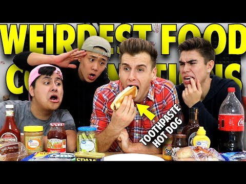WEIRDEST FOOD COMBINATIONS PEOPLE LOVE **Gross**
