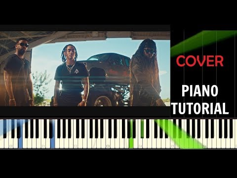 Ozuna - Egoísta ft. Zion & Lennox - Piano Tutorial / Cover - Synthesia ( How To Play)
