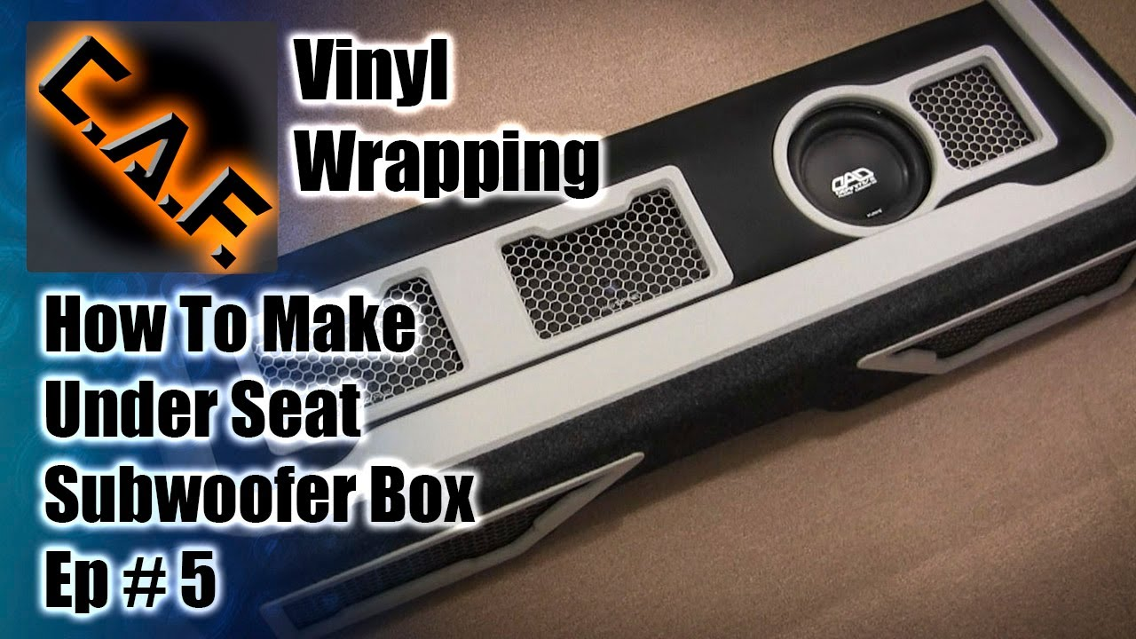 Under Seat Subwoofer Box Enclosure Video 5 Vinyl Carpet