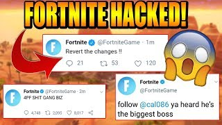 FORTNITE OFFICIAL TWITTER HACKED (FULL HACKED MESSAGES!)