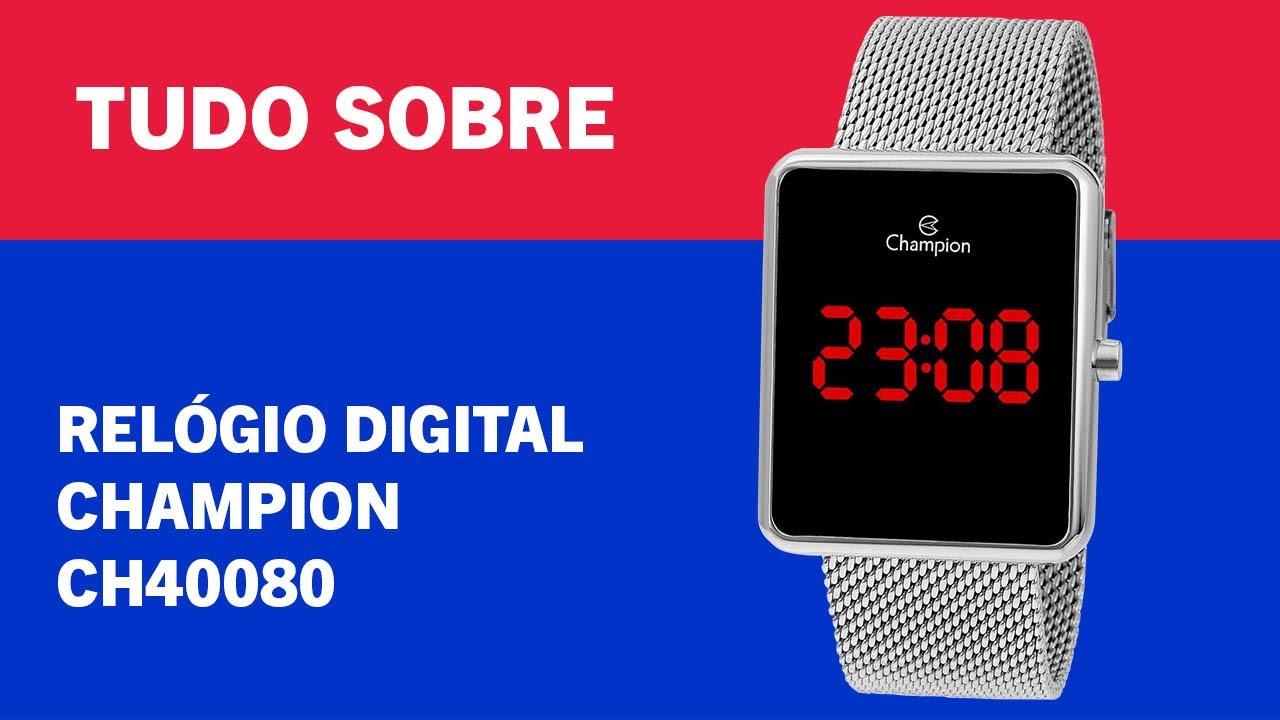 TUDO SOBRE – RELÓGIO DIGITAL CHAMPION CH40080