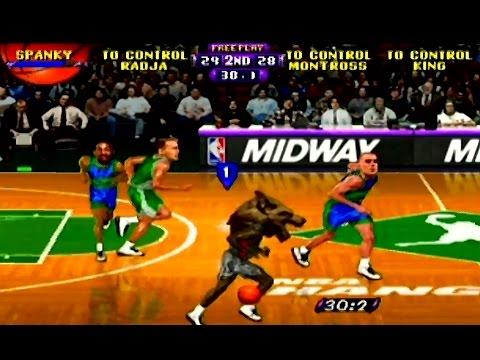 Epic Duel Between a Werewolf and Eric Montross - NBA Hangtime - N64 Gameplay