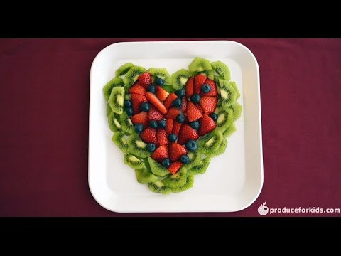Valentine's Day Fruit Tray | Stop Motion