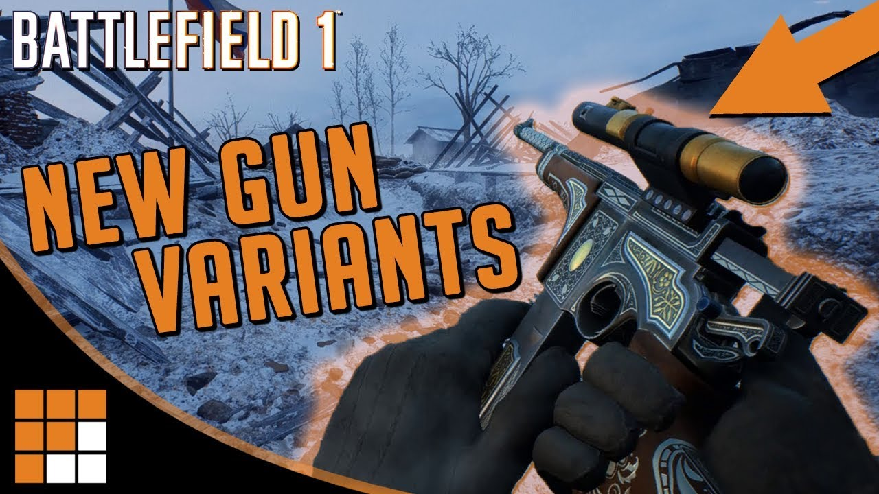 8 NEW WEAPON VARIANTS! More Assault and Scout Weapons Headed to Battlefield 1