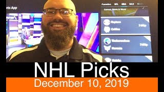 NHL Picks (12-10-19) | Hockey Predictions | Goalie Projections & Probables | Vegas Daily Line & Odds