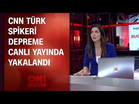 CNN TÜRK spikeri depreme canlı yayında yakalandı (26.09.2019)