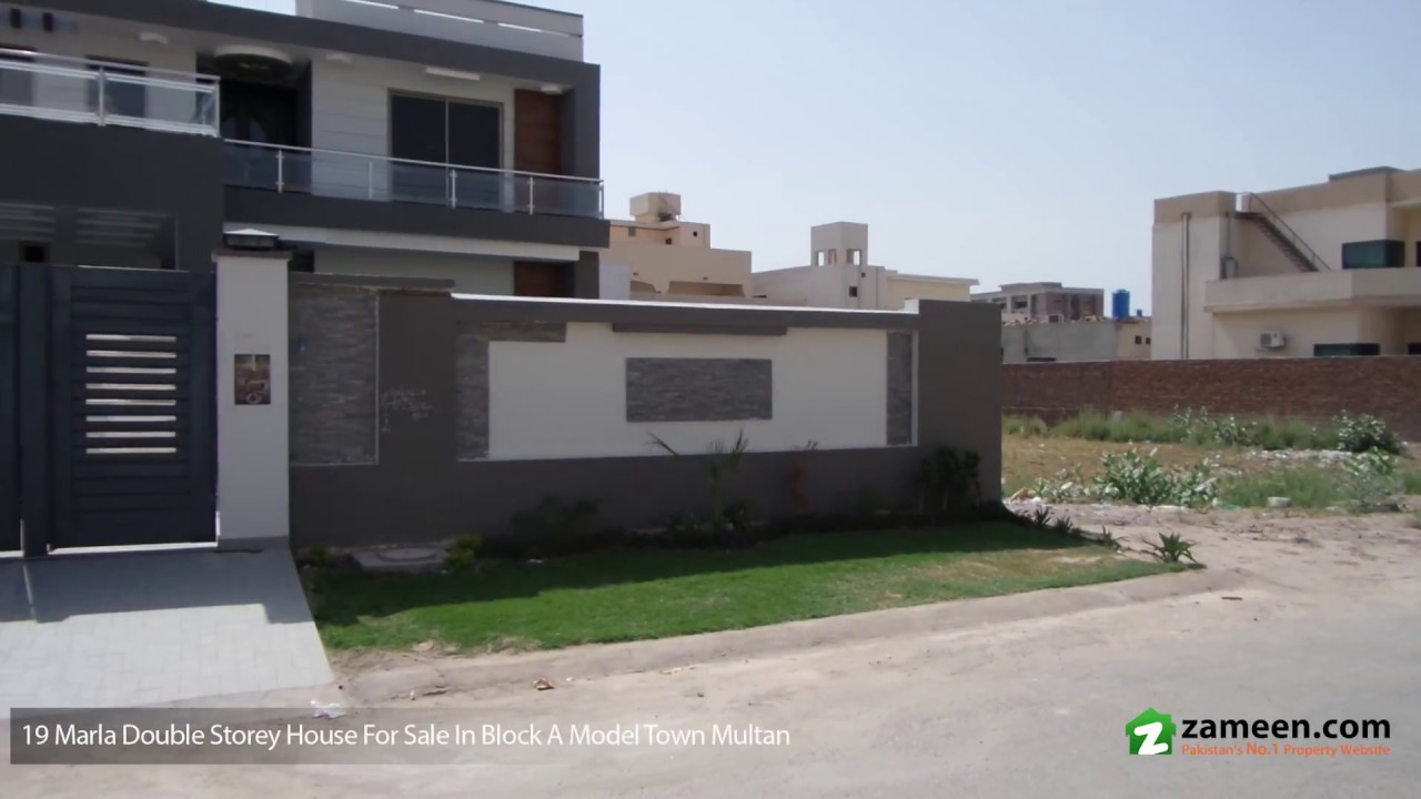 19 marla double storey house available for sale in model town multan