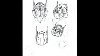 How to Draw G1 Optimus Prime (The head part 1)