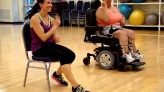 Wheelchair (seated) Zumba - On the Floor - Jennifer Lopez ft. Pitbull