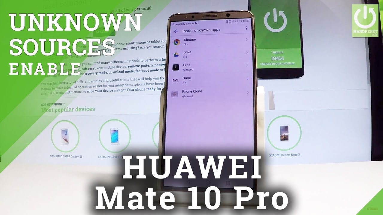 Allow Installation from Unknown Sources in HUAWEI Mate 10 Pro