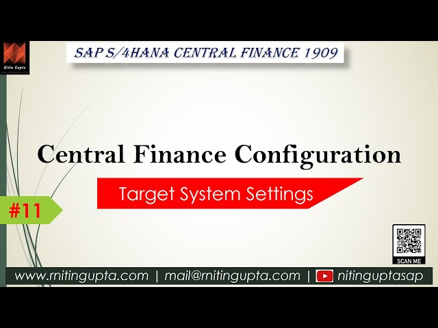 SAP Central Finance - Configuration Video 11