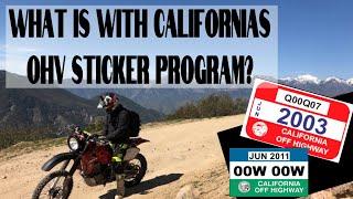 California's Broken Red & Green Sticker Program #ohv #california