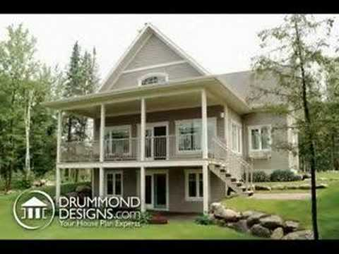 house plansdrummond designs - youtube