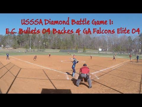 USSSA Diamond Battle Game1: EC Bullets 04 Backes & GA Falcons Elite 04