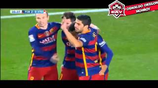 Neymar Goal Gol Barcelona vs Athletic Bilbao 2-0 2016