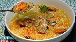 Sopa de pescado y marisco o Sopa Marinera. Receta fácil. Recetas paso a paso. Loli Domínguez