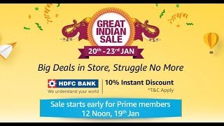 The Great Indian Sale Is Here 2019 20 To 23 January And Good News For Prime Member Peoples