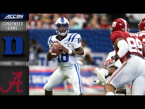 Duke vs. Alabama Condensed Game | ACC Football 2019-20