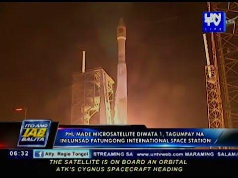 PHL-made microsatellite Diwata 1, tagumpay na inilunsad patungong International Space Station