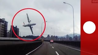 Taiwan TransAsia plane crash caught on amvid