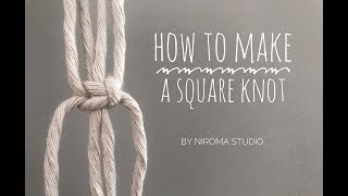How to make a square knot for macrame