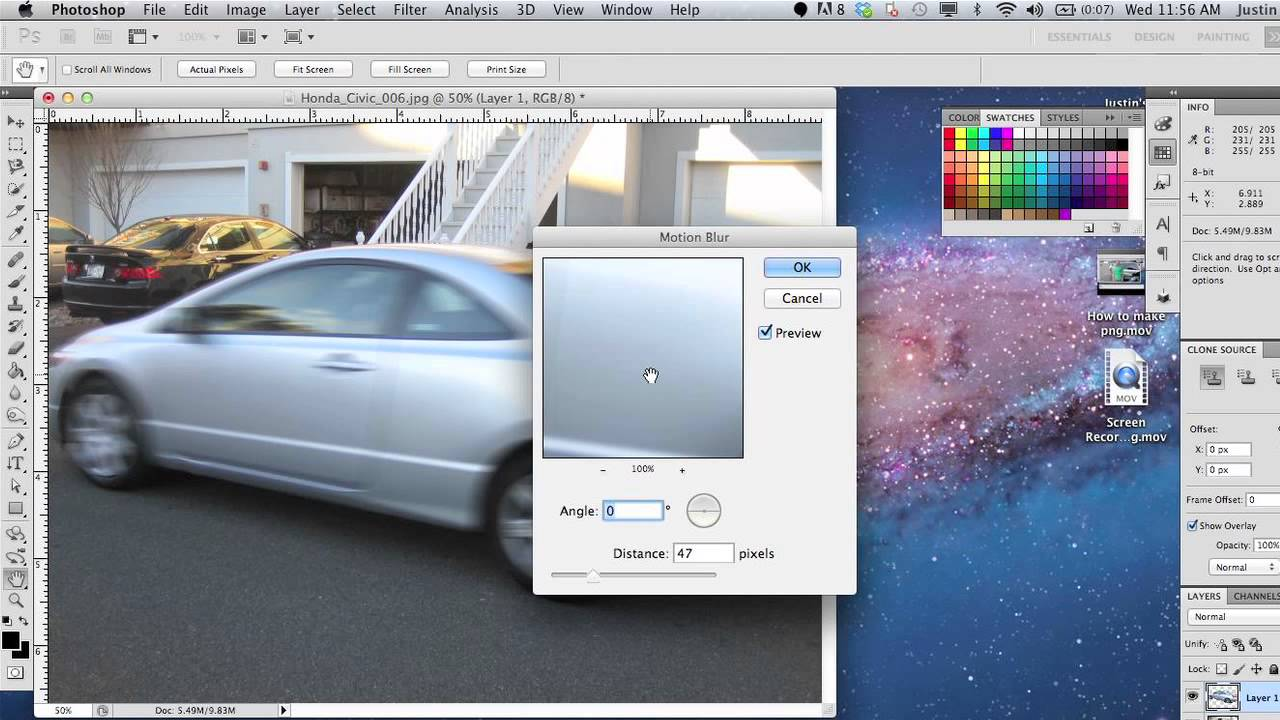 How to make car photos look good in photoshop