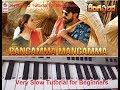 Rangamma Mangamma | Rangasthalam| Keyboard Cover| Keyboard Tutorial|Telugu Song| Harmonium