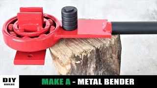 Make A Extreme Powerful Metal Bender   Homemade Metal Bender