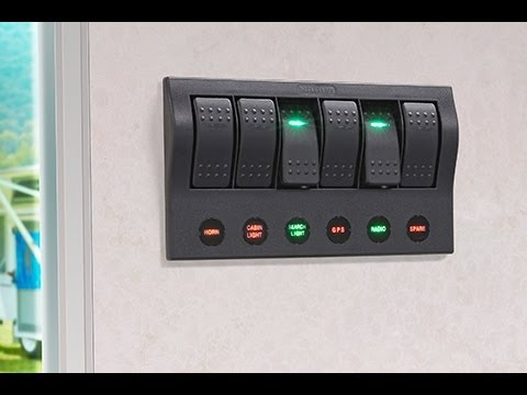 Narva 6 Way Led Switch Panel With Fuse Protection