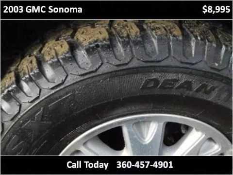 2003 GMC Sonoma Used Cars Port Angeles WA