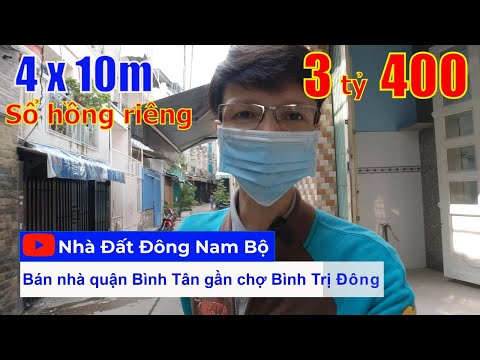 Video nhà bán Bình Tân mới nhất. Nhà 1 lầu 4x10m đường Chiến Lược quận Bình Tân