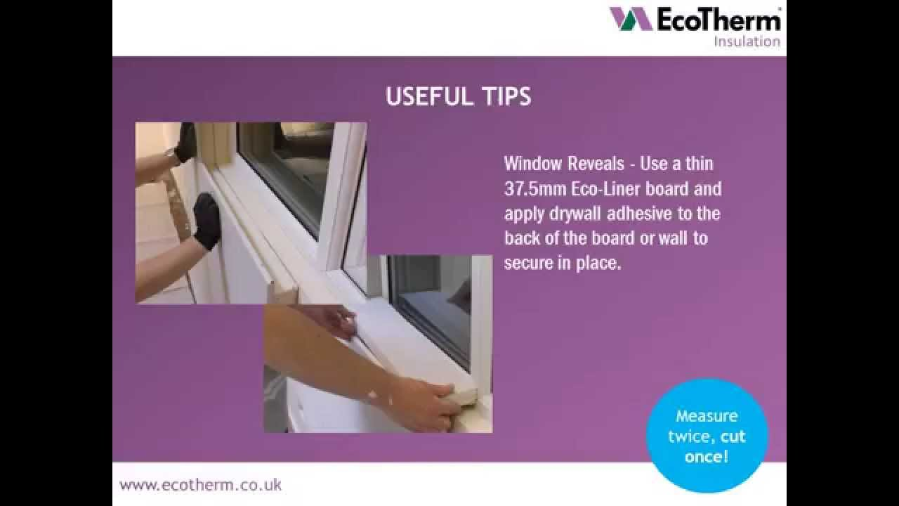 ecotherm insulated plasterboard eco liner dot and dab. Black Bedroom Furniture Sets. Home Design Ideas