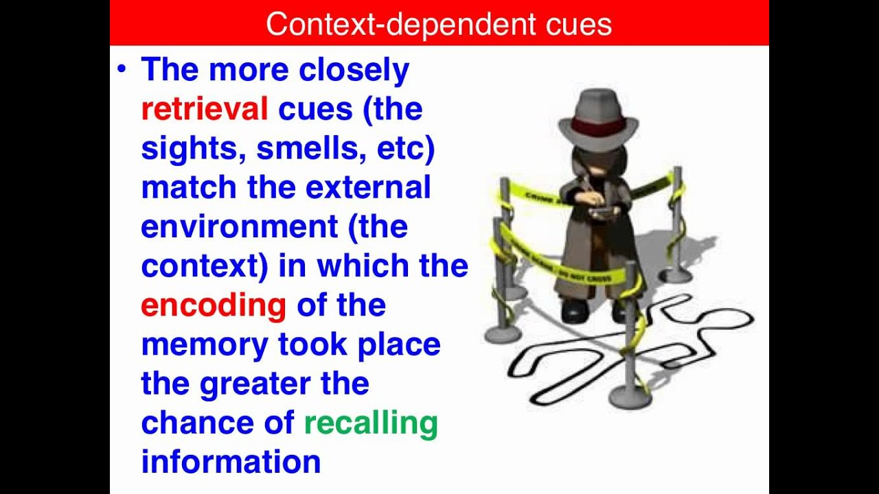 Context Dependent Cues Vce U3 Psychology Youtube