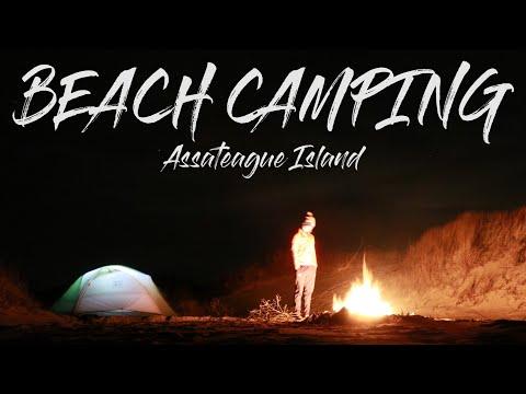 BEACH CAMPING on Assateague Island
