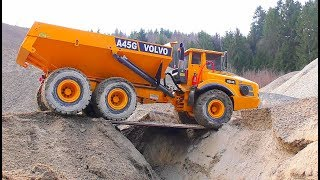 RC Volvo A45G in Action! Cool Liebherr R970! Fantastic and Strong RC Vehicles!